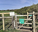 kissing gate entrance to permissive path