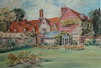 Parsonage Farm House, painting by Mrs Robertson.jpg