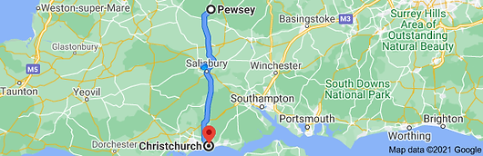 google map Pewsey to Christchurch.png