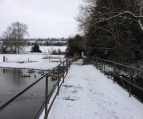 Mill Lane pedestrian bridge 18 March 201