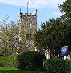 St Lawrence flying the Diocesan Flag (Th
