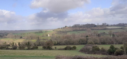 Looking towards Old Sarum from Devizes Road