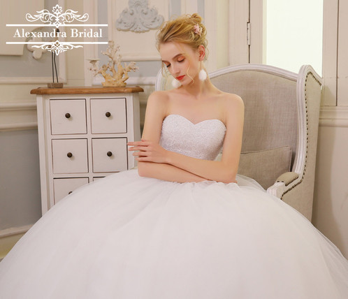 Princess Tulle Wedding Dress | Inexpensive Wedding Dresses ...