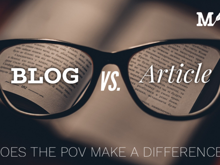 Blog vs. Article: Does The POV Make a Difference?