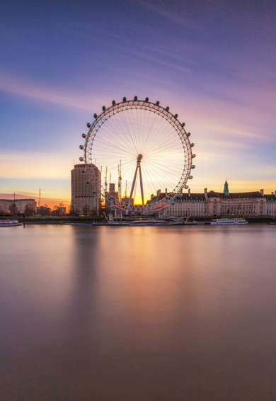 London Eye Sunrise