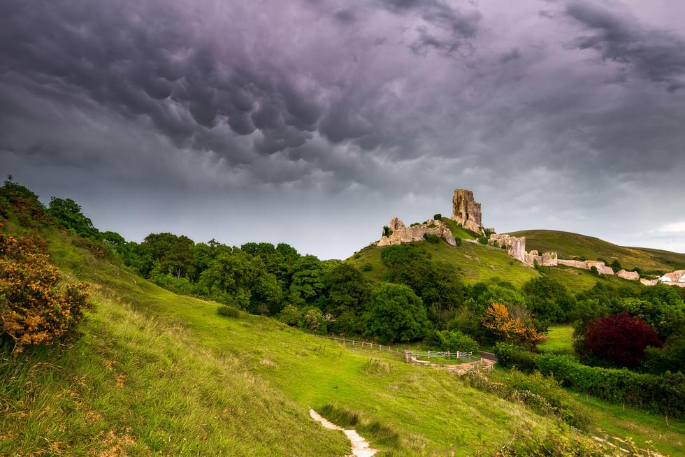 Mammatus Clouds Over Corfe Castle
