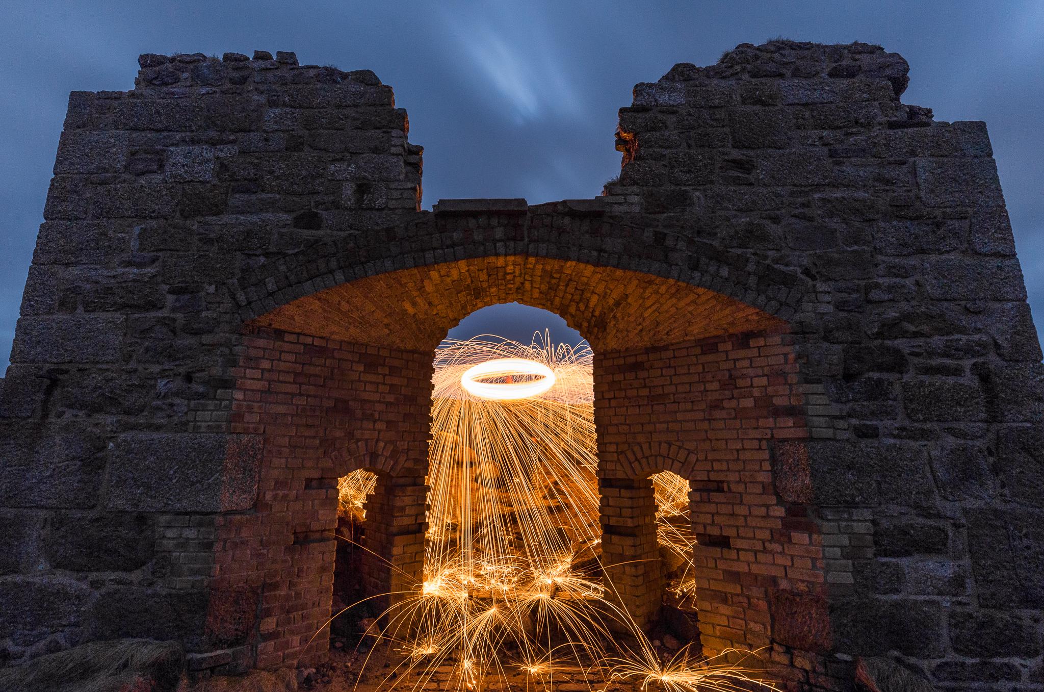 Steel Wool  Spinning Archway - Botallack Mine
