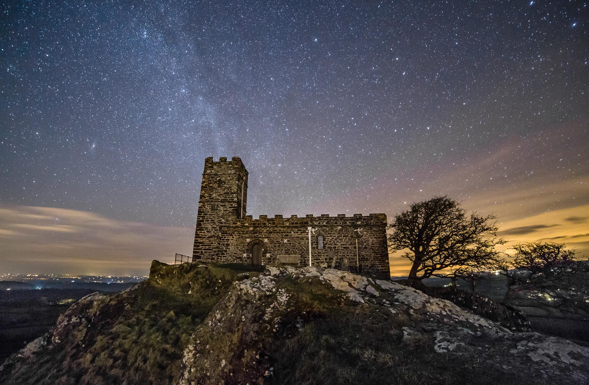 Starlit Brentor Church - Devon
