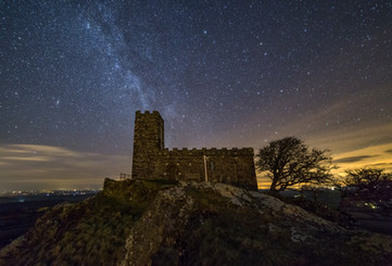 Brentor Church Under Starlight