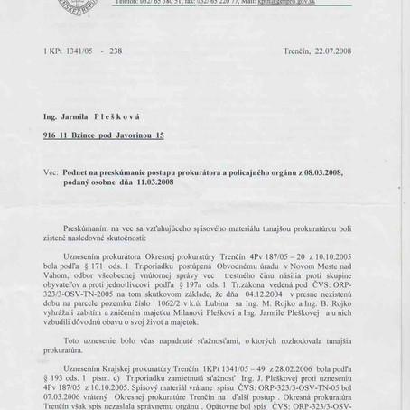 Ospravedlnenie Krajskej prokuratúry Trenčín za premlčanie viacerých trestných vecí