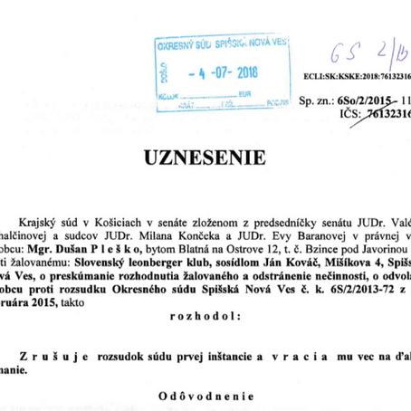 Mgr. Dušan P. vs SLK - Je konanie naozaj právoplatne ukončené?