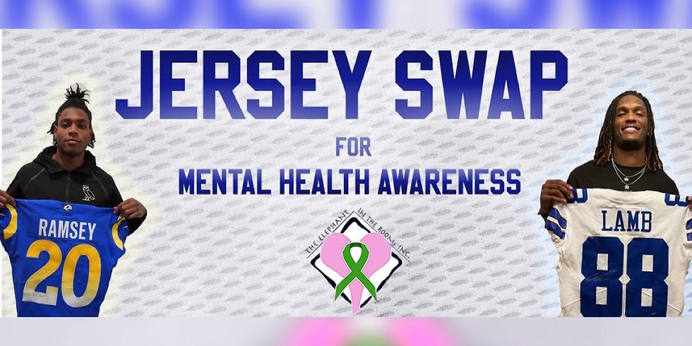 Jersey Swap for Mental Health Awareness