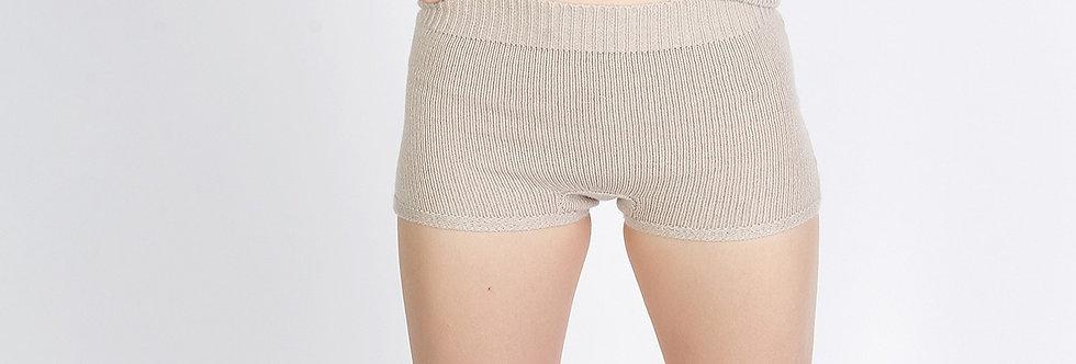 Cashmere Knit Shorts - Yoga shorts, Night wear