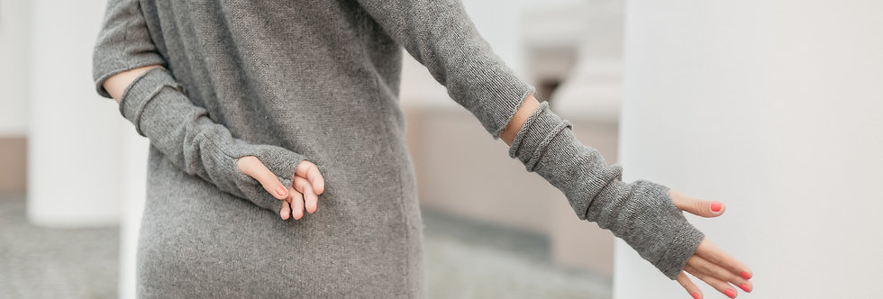 Pure Cashmere Arm Warmers -  Fingerless Gloves