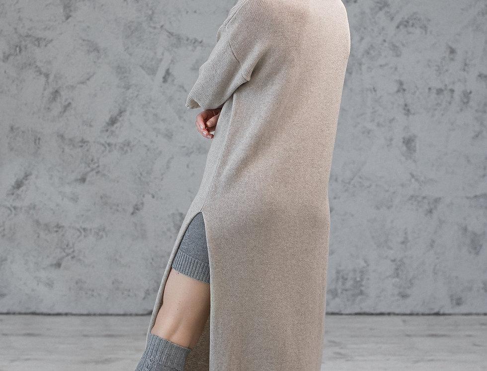 Cashmere Merino Wool Long Dress - Winter Long Sweater