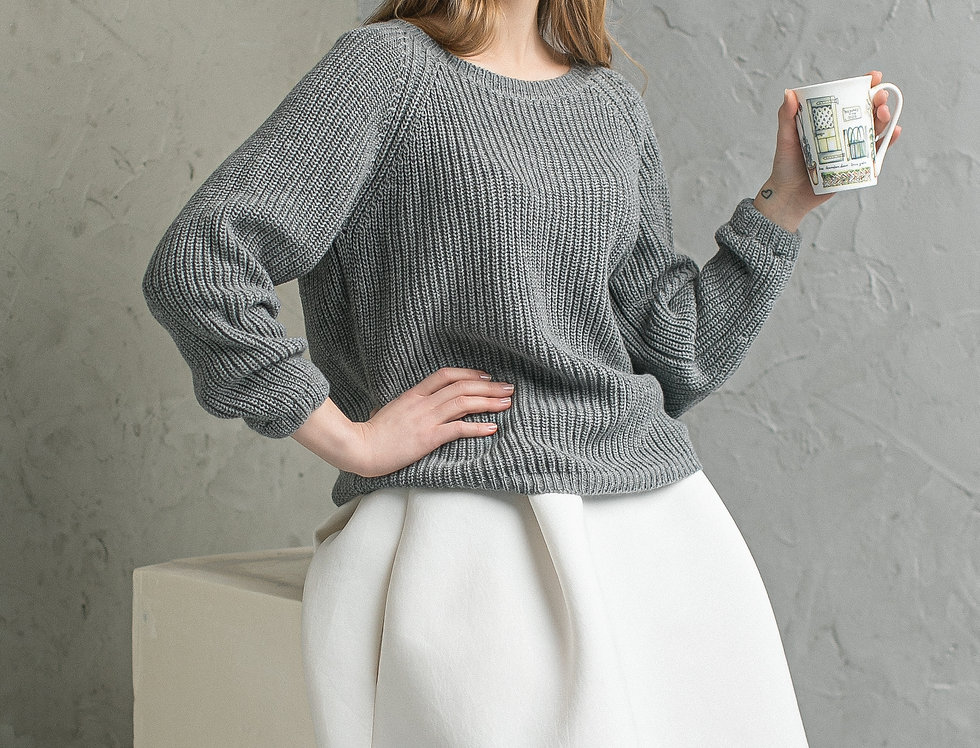 Loose Knit Sweater - Winter pullover