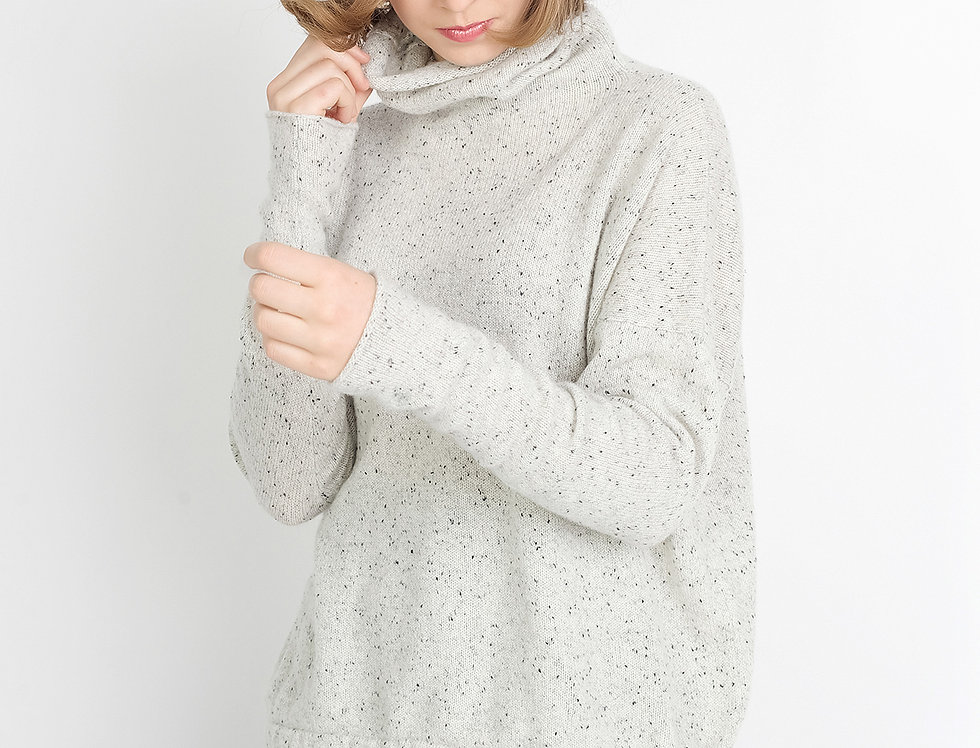 Cashmere Turtleneck Oversized Sweater