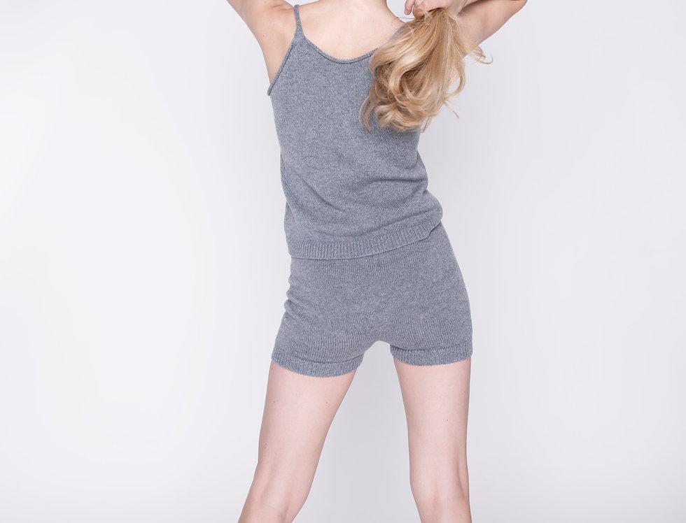 Knit tank top and shorts set - Yoga set