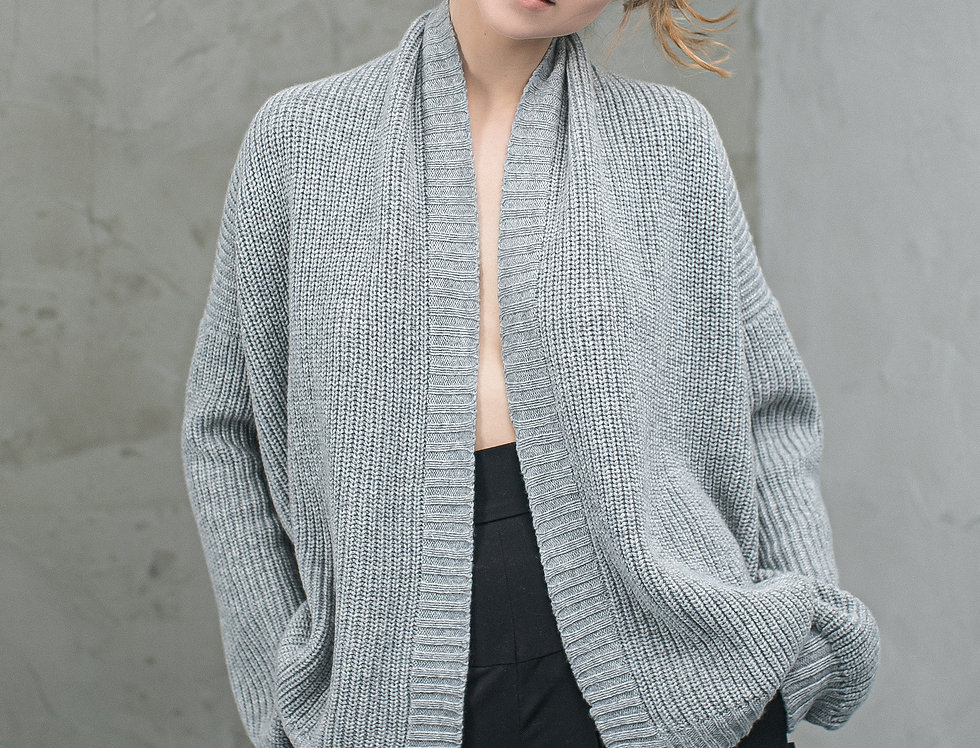 Oversized Cashmere/Merino Wool sweater cardigan