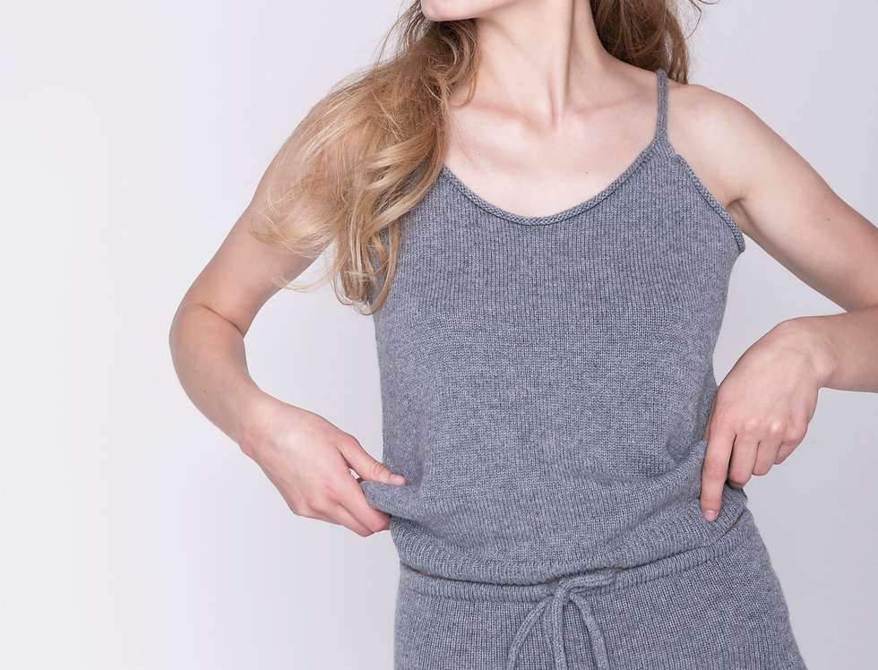 Pure Cashmere Knit tank top