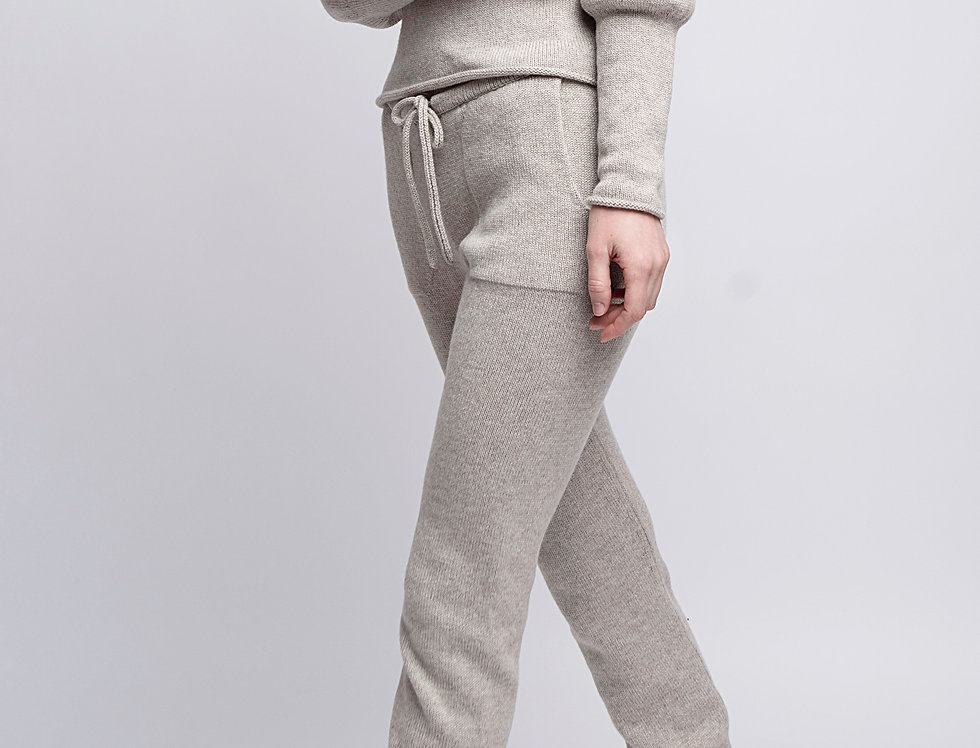Yoga pants, knit Joggers, Merino wool and Cashmere Booty pants for home