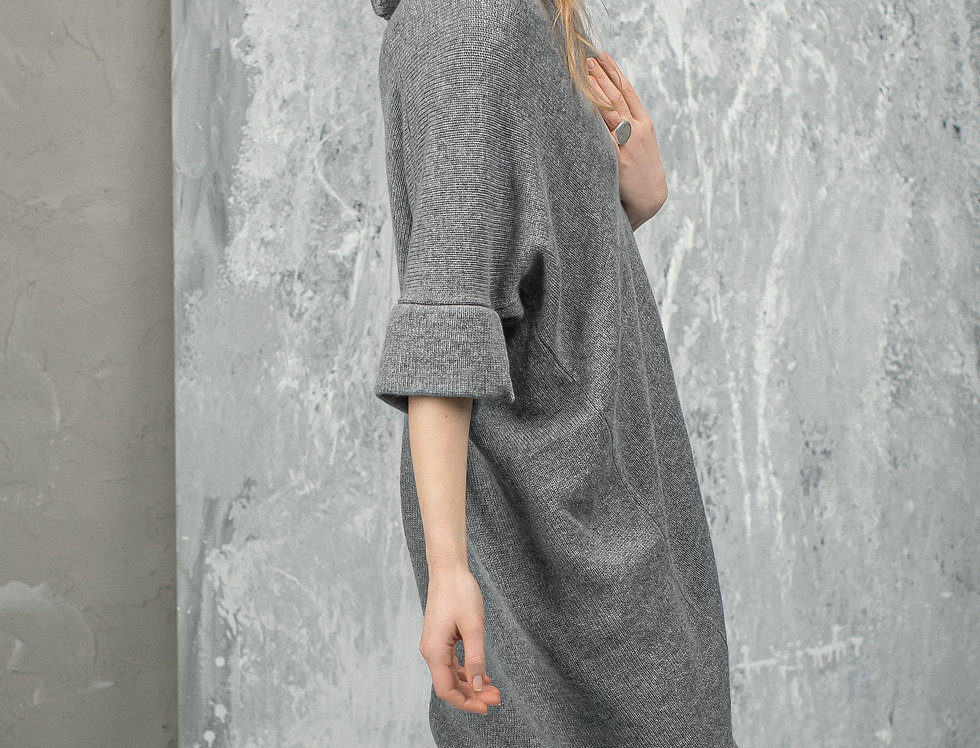 Oversized Cashmere Sweater for Woman - Open Front Long Cardigan