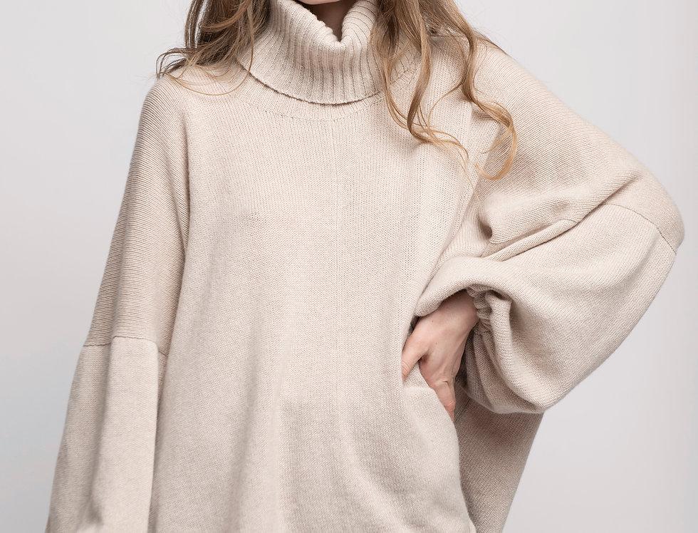 Cashmere  Turtleneck Oversized Hand knit Women sweater