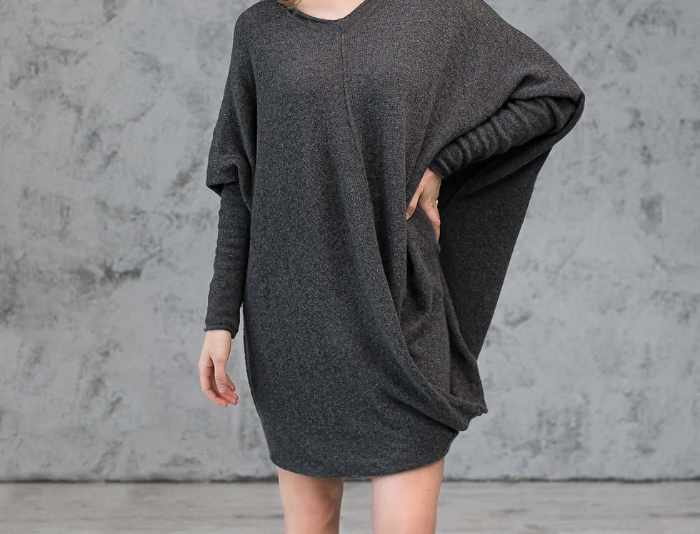Oversized Knitted Cashmere Tunic
