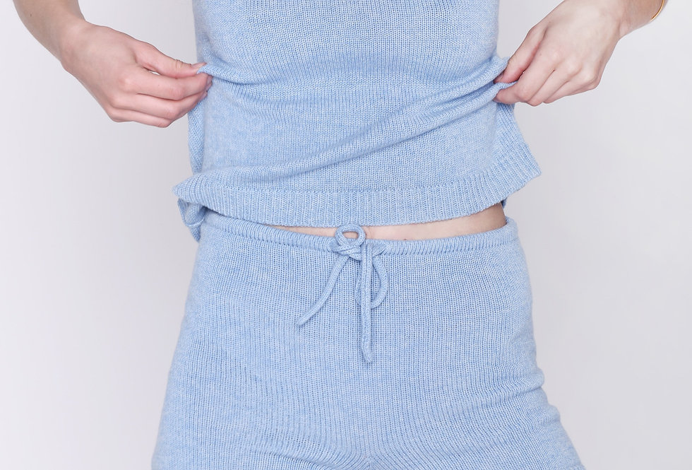 Pure Cashmere Knit Shorts - Yoga shorts, Night wear