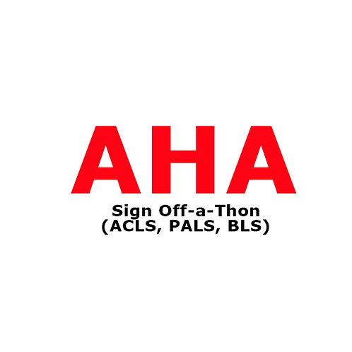 AHA SIGN OFF-A-THON