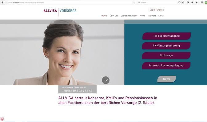 Kunde: Allvisa AG, Services im Vorsorgebereich