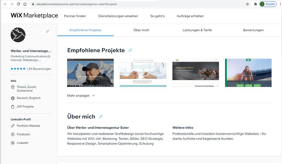 WIX.com Website Support und Schulung Exp