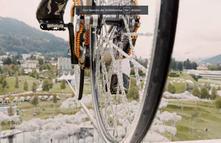 Hochseilakrobatik mit dem Bike; Freddy Nock
