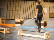 Balance-Vorführung, Training mit Freddy Nock
