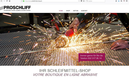 Kunde: Proschliff AG, Schleiffmittel-Shop