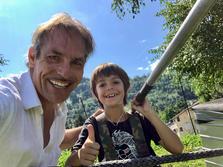 Freddy Nock, Hochseilartist mit Sohn Leo