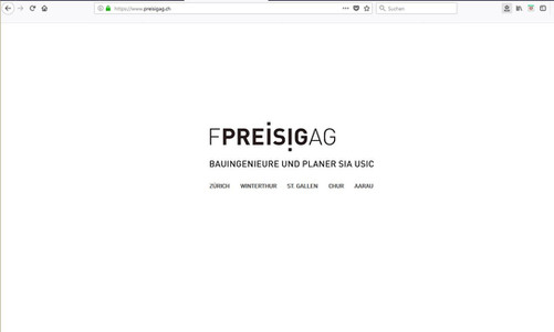 Kunde: Preisig AG, Bauingenieure & Planer SIA