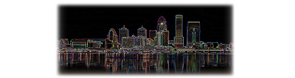 louisville kentucky skyline-neon_fade_pa