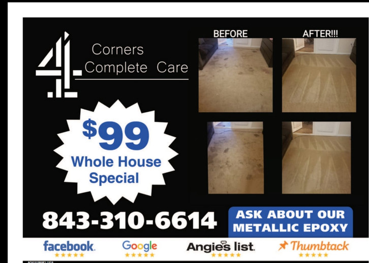 $99 Whole House Carpet Cleaning