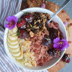 Valentine's Day Pink Oat Bowl