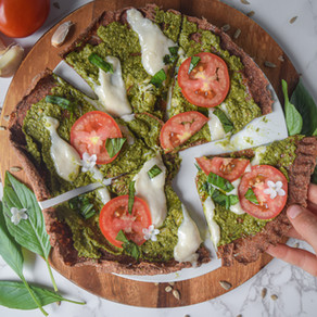 Caprese Pizza, Raw Crust