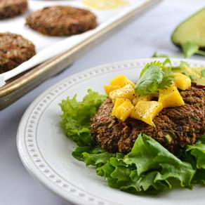 Tropical Blackbean Quinoa Burgers