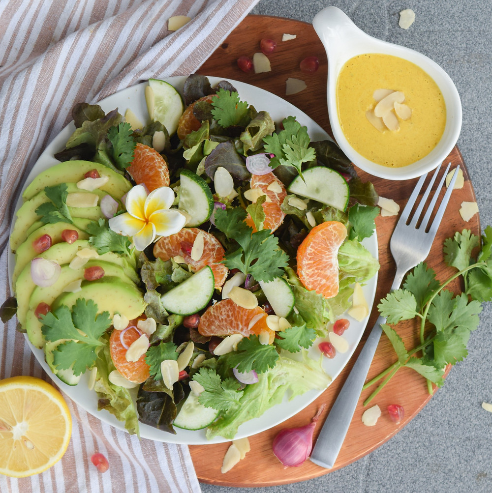 Avoid all the preservatives and additives in store-bought salad dressings by opting for homemade dressings! This simple and easy lemon, ginger and turmeric dressing is a healthy compliment to any salad! Try this sweet and zesty zing over your next bed of greens!