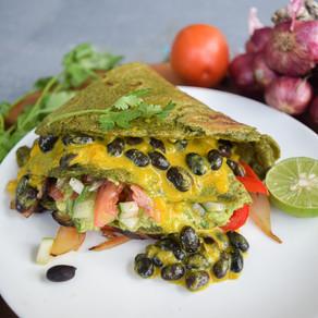Mexican Spinach Tortilla Wraps
