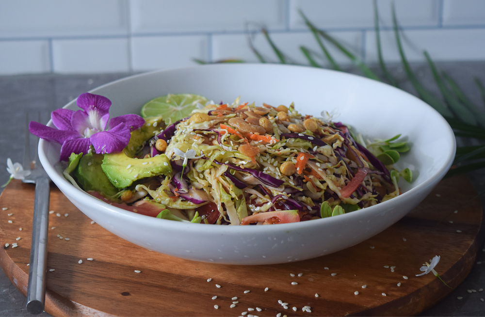 This 20 minute salad recipe is filling, delicious, and plant-based! Burmese (or Myanmar) salad is an authentic dish found around South East Asia. The fermented tea leaves take this salad to the next level! You can typically find these ingredients in your Asian market. It's worth a try - I guarantee it's a salad you'll keep coming back for! It's a filling raw-vegan meal that's also light and easily digested!