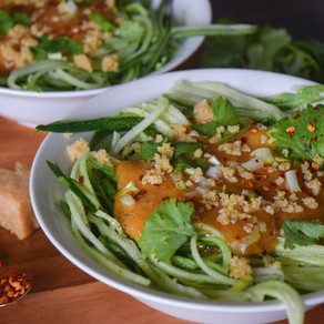 Raw, Sweet &  Spicy Cucumber Noodles