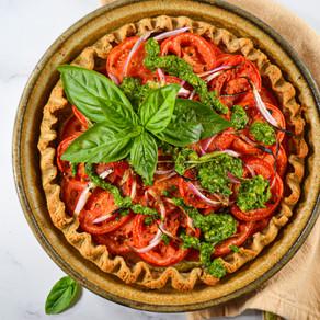 Pesto Tomato Pie