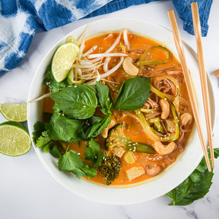 Vegan Thai Red Curry Soup