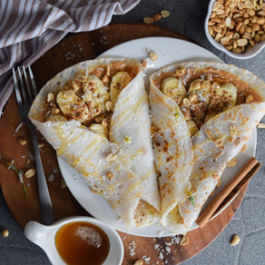 Peanut Butter & Banana Crepes