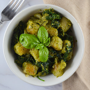 Trader Joe's Cauliflower Gnocchi with Pesto
